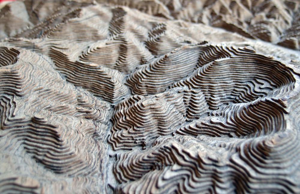 Modell Der Region Um Markirch Mit Dem Fluss Leber In Den